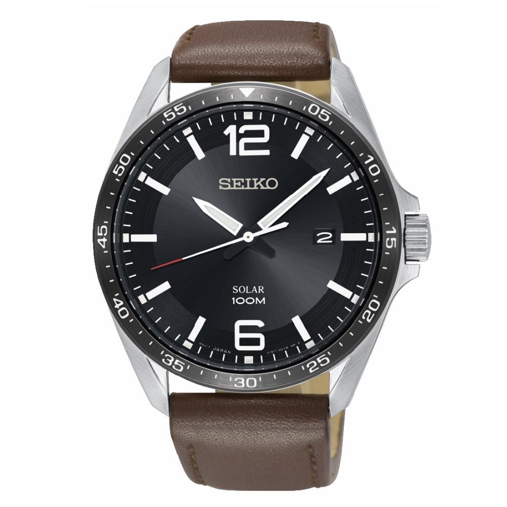 SEIKO 潮流時尚防水百米太陽能腕錶/SNE487P1/V157-0CP0D