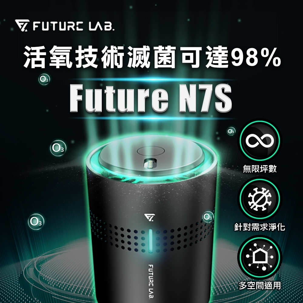 【Future Lab. 未來實驗室】FUTURE N7S 空氣淨化機 空氣淨化器 家用車用空氣清淨機 奈米活氧殺菌 活氧離子