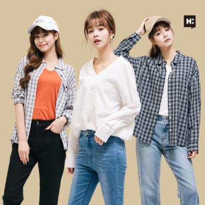 [時時樂]H:CONNECT- 男女裝百搭襯衫-四款