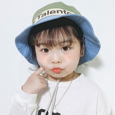 Baby童衣 兒童漁夫帽 夏天遮陽寶寶漁夫帽 休閒字母男女童拼色帽 可拆式抽繩漁夫帽88487