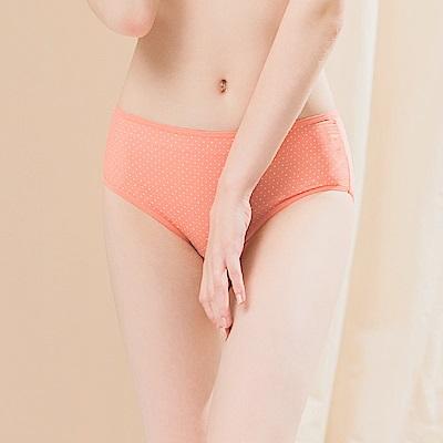 點點速乾三角小平口中腰 M-XL 內褲 蜜桃點點 可蘭霓Clany