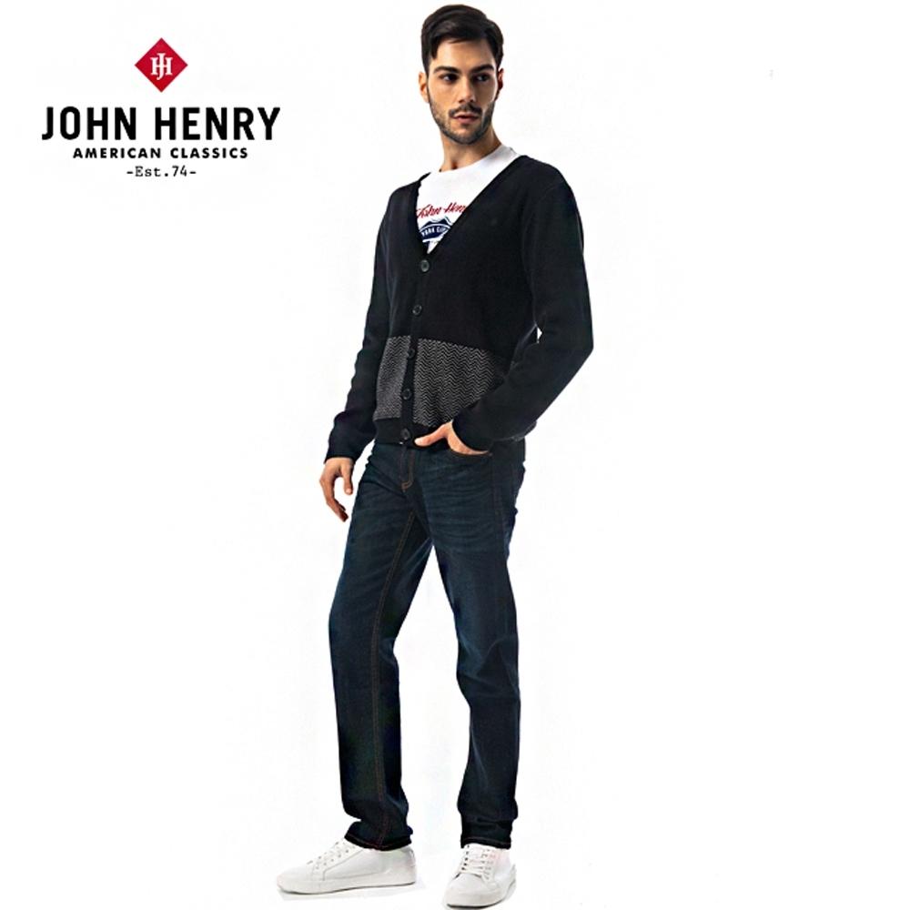 【JOHN HENRY】鋸齒波浪線條設計針織衫-兩色選