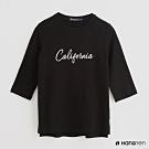 Hang Ten - 女裝 - 純色字母印花五分袖上衣 - 黑