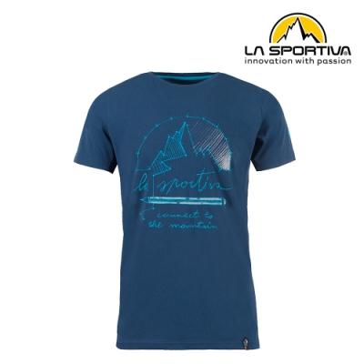 【義大利 LA SPORTIVA】Connect T-Shirt 透氣短袖上衣 男款 藍色 #N03618618