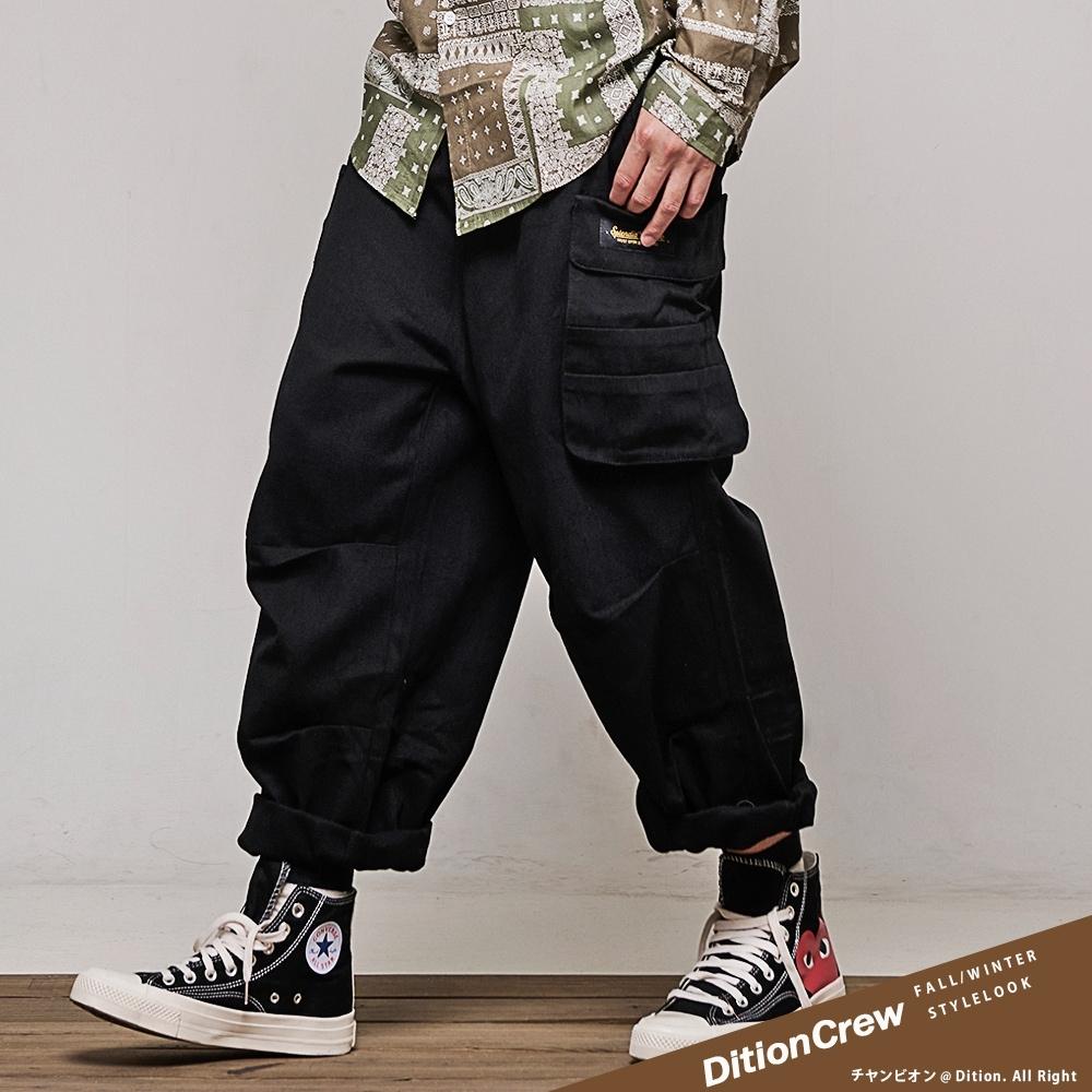 DITION 機能工裝大口袋長褲 錐形3D寬褲 CAMP工作褲