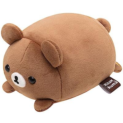 拉拉熊歡樂時光系列趴姿QQ公仔。蜂蜜小熊 San-X