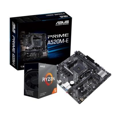 華碩 PRIME A520M-E +AMD R5-3500X組合套餐