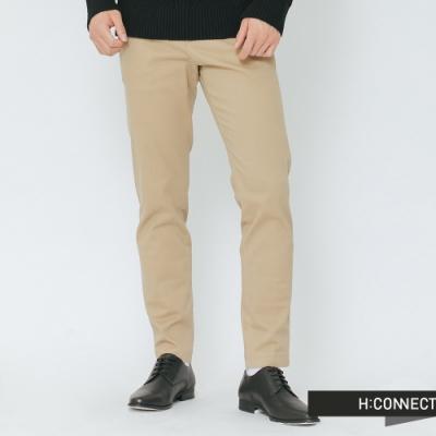 H:CONNECT 韓國品牌 男裝-質感純色西裝褲-卡其(快)