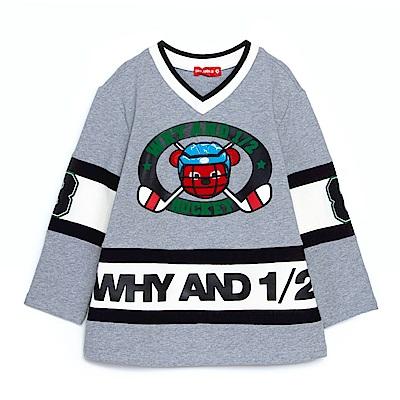 WHY AND 1/2 拼接磨毛T恤 11Y~14Y以上