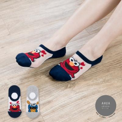 阿華有事嗎 韓國襪子 芝麻街透膚隱形襪 韓妞必備船襪 正韓百搭卡通襪