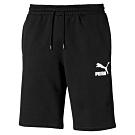 PUMA-男性流行系列No.1 Logo短褲-黑色-歐規