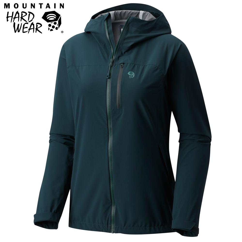 Mountain Hardwear 女款-彈性防水外套-藍黑色 MOL16170BL