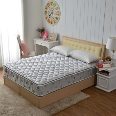 雙人5尺-真三線-乳膠抗菌+竹碳紗除臭+防潑水蜂巢獨立筒床墊-正反可睡