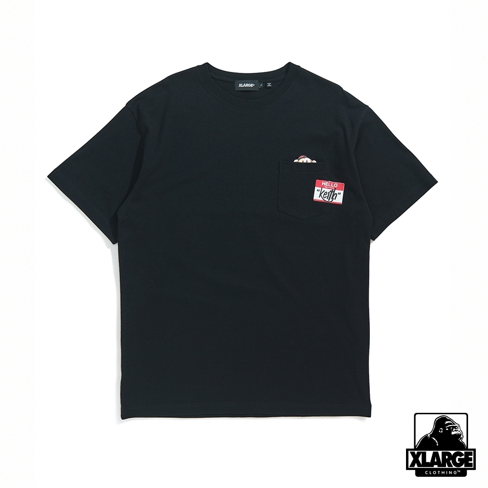 XLARGE S/S KEITH POCKET TEE短袖T恤-黑