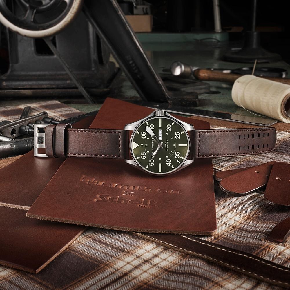 Hamilton 漢米爾頓 Khaki Pilot Schott NYC 限量機械錶