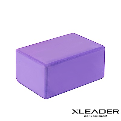 Leader X 環保EVA高密度抗壓瑜珈磚 加厚款10cm 紫色