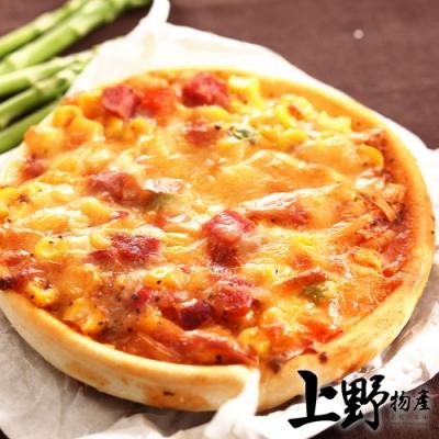 (滿899免運)【上野物產】五吋牽絲夏威夷圓披薩 (120g±10%/片) x1片