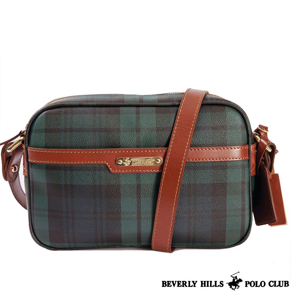 B.H POLO-經典綠格紋 輕鬆休閒斜背包