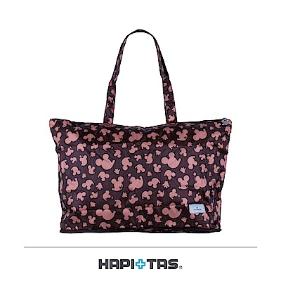 日本HAPITAS  摺疊托特包購物袋 咖啡米奇 迪士尼授權