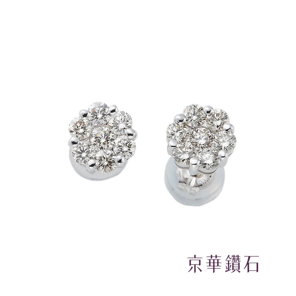 京華鑽石  蕾絲花系列 綻放 0.5克拉 18K白金
