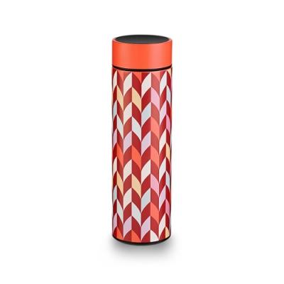 【PO:Selected】丹麥溫度智能杯460ml(菱格條紋-紅)