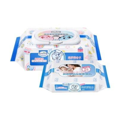限定貝恩Baan NEW嬰兒保養柔濕巾80抽24入+貝恩Baan NEW嬰兒保養柔濕巾/20抽