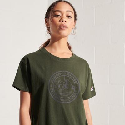 SUPERDRY 女裝 短袖T恤 EXPEDITION BOXY 橄欖