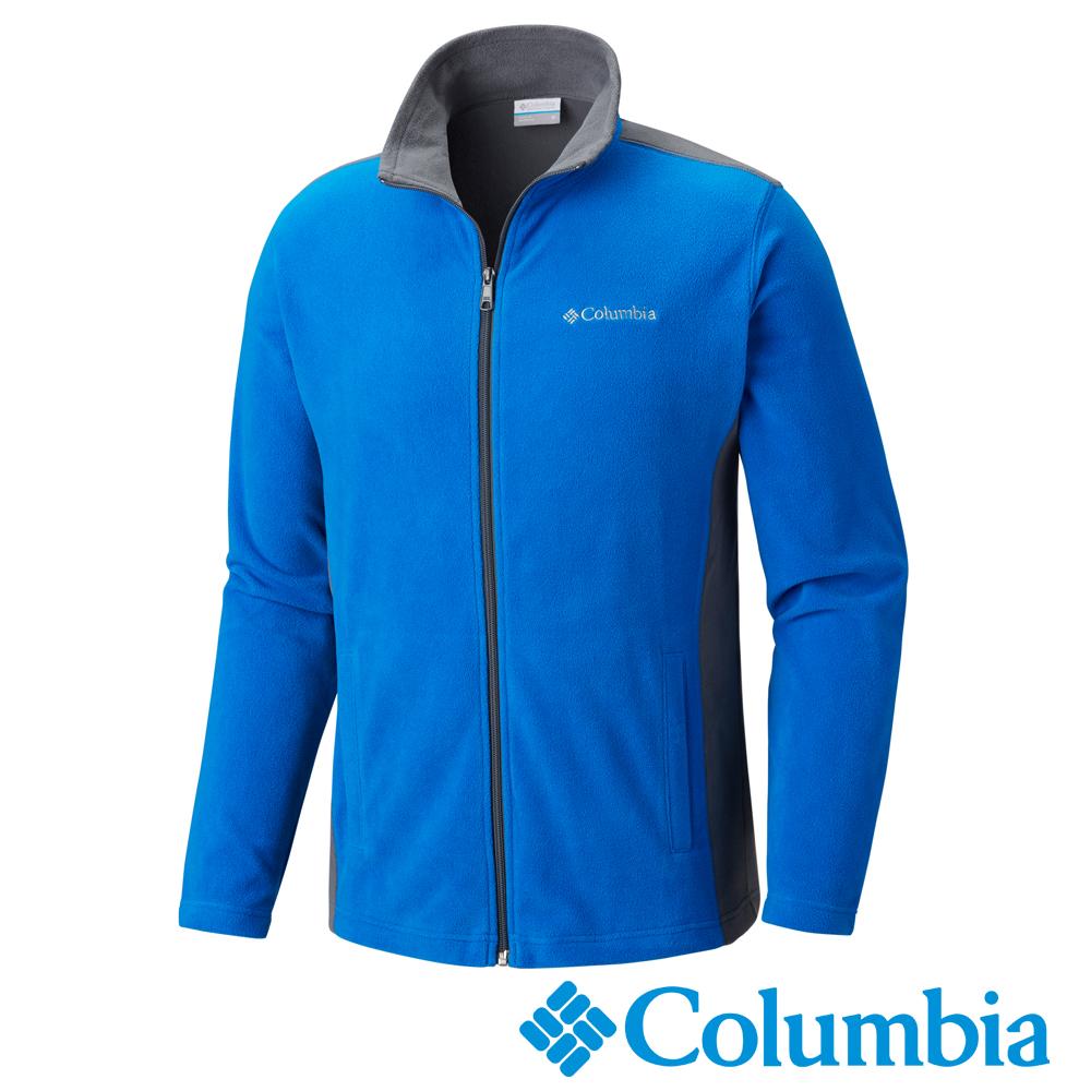 Columbia 哥倫比亞 男款-防曬50輕量刷毛外套-寶藍UAE61970BT