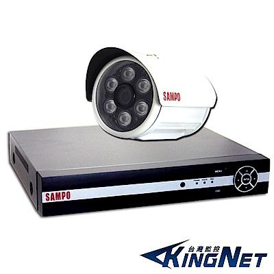監視器攝影機 - KINGNET 聲寶SAMPO 1080P 4路1支主機套餐 DVR