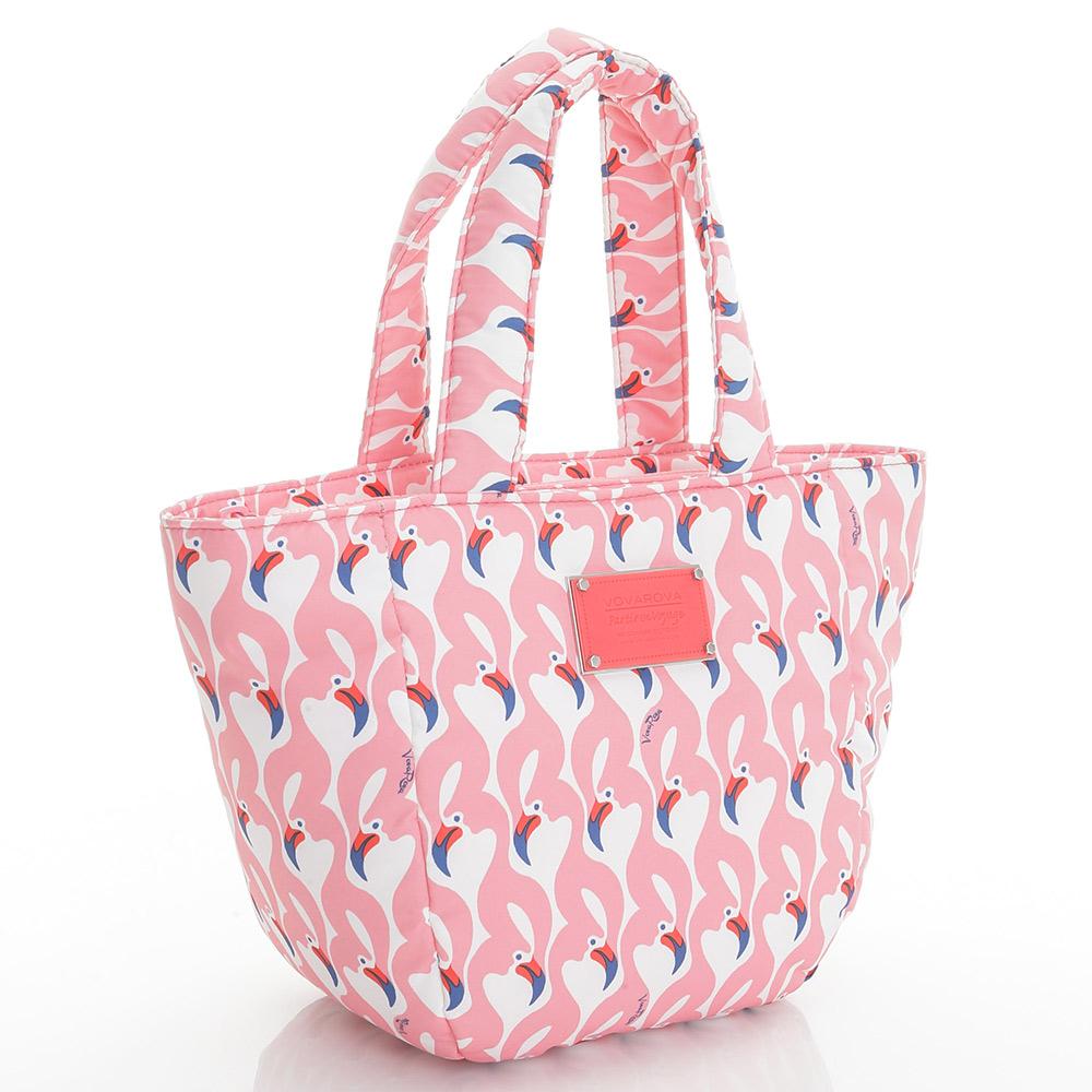 VOVAROVA空氣包-迷你托特包-粉粉紅鶴