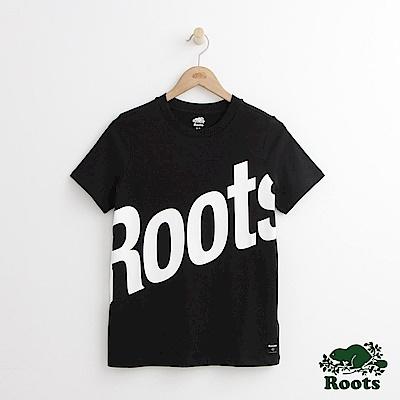 Roots -女裝- 卡麥隆短袖T恤 - 黑