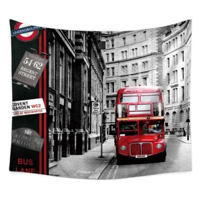 半島良品 北歐風裝飾掛布-街景系列/倫敦街景 150x130cm
