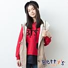 betty's貝蒂思 前印BTS下擺拼接T-shirt(紅色)
