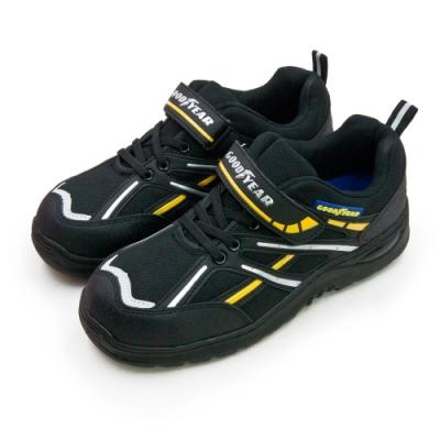 GOODYEAR 固特異鋼頭防護認證安全工作鞋 驚天盾S系列 黑銀黃 83970