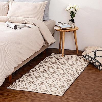 哈里印度手工地毯-幾何80x150cm (H014266684)