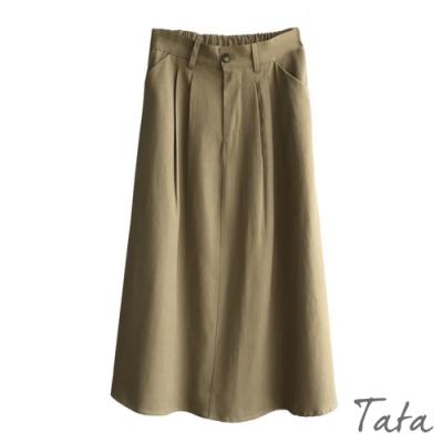 寬鬆素色棉麻裙 共二色 TATA-(M/L)