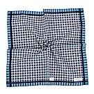 Calvin Klein 格紋紳士純綿帕巾-藍綠色