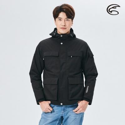 ADISI 男二件式防水透氣保暖外套(內件羽絨) AJ2021015 青丹黑/黑