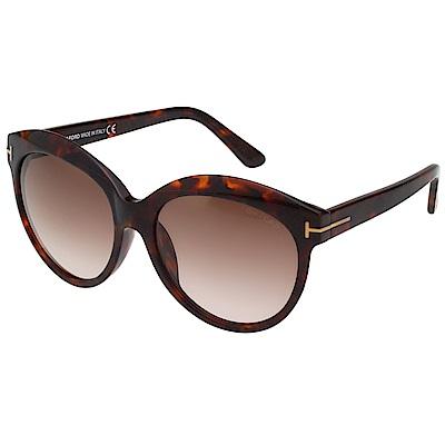 TOM FORD 復古 太陽眼鏡-琥珀色-TF9259