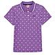 KAPPA義大利 時尚吸濕排汗女針織短袖POLO衫 粉紫34172VWXDC product thumbnail 1