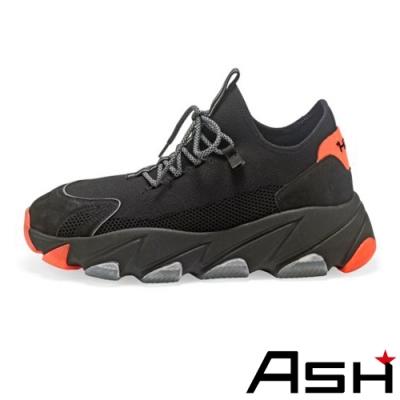 ASH-ENIGMA時尚潮流休閒運動增高厚底老爹鞋-黑