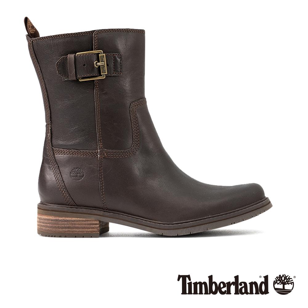 Timberland女款深咖啡色皮革Altimeter 休閒鞋 A1SLS