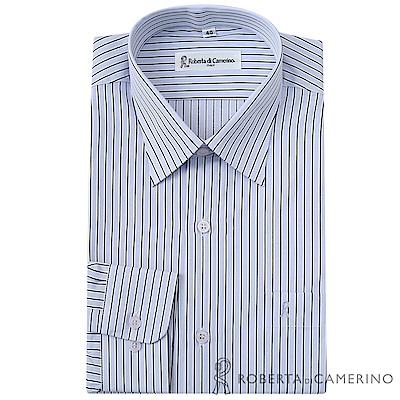ROBERTA諾貝達 台灣製 商務紳士 抗皺易燙條紋長袖襯衫  紫色