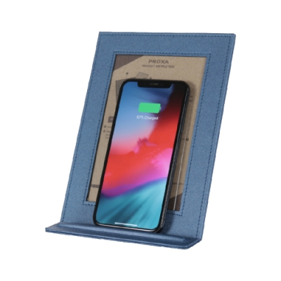 Proxa QI無線充電相框 手機支架(銀河藍)