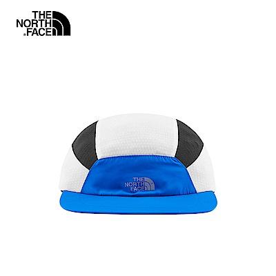 The North Face北面男女款藍色拼接運動帽|3FKIF89