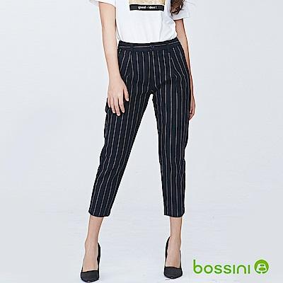 bossini女裝-彈性修身褲08海軍藍