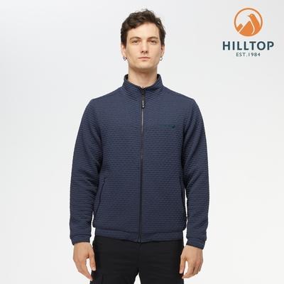 【hilltop山頂鳥】男款POLYGIENE抗菌吸濕快乾保暖雙面穿夾克H24MK4憂鬱藍