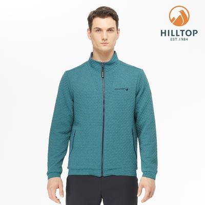 【hilltop山頂鳥】男款POLYGIENE抗菌吸濕快乾保暖雙面穿夾克H24MK4水電綠