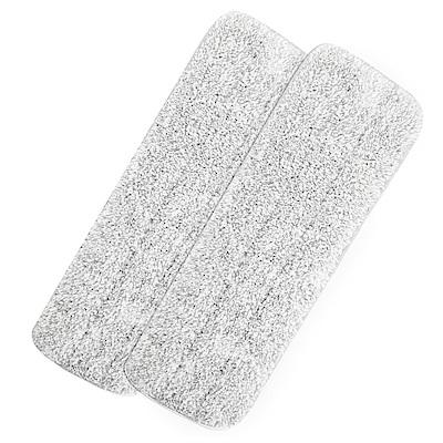 EM易拖寶-極淨分槽360度免沾手平板拖水桶組-補充布x2入組