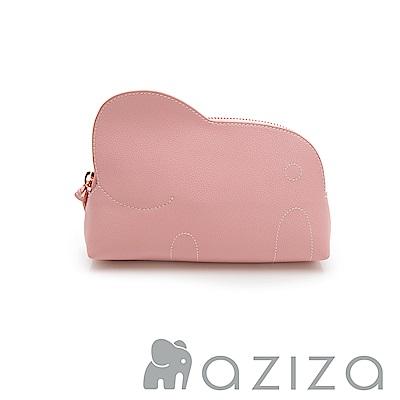 AZIZA 小象化妝包-粉
